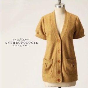 Anthropologie Tabitha short sleeve tweed blazer-S